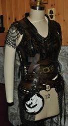 leather armor viking  LARP by Lagueuse
