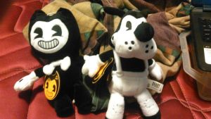 BATIM Plushies - Bendy and Boris by TwistedDarkJustin
