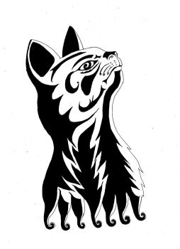 Cat tribal by angelblack65