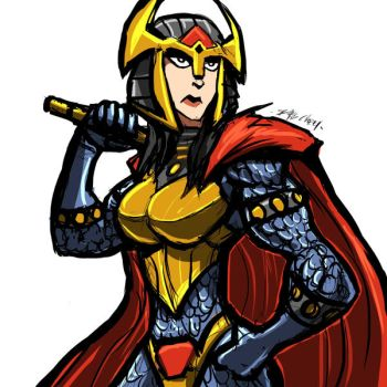 SKETCHIN: BIG BARDA by Sabrerine911