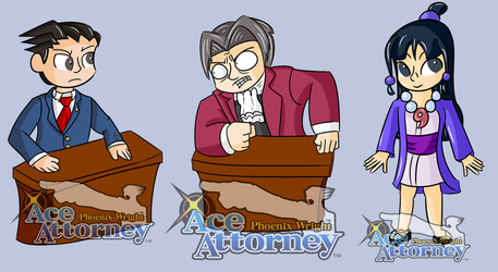 Phoenix Wright Stickers by luxiavideogamer11