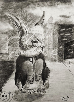 Goth bunny! by SulaimanDoodle