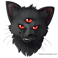 Damian the Demon Cat by AltairSky
