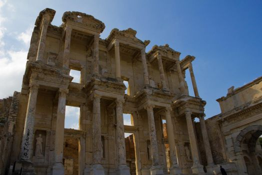 The Library of Celsus by Sockrattes