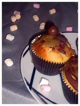 Lion/apple/caramel cupcakes home made by Younae