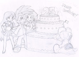 Commish: Chocolate Cake! by Nintendrawer