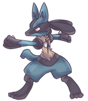Scar Lucario Commission by AutobotTesla