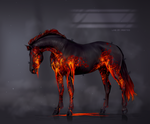 Horse Lava adopt (close) by Yanmi