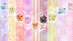 Eeveelutions Wallpaper by LilianaXLeilani