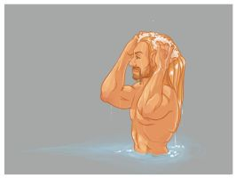 Fili in the Water by AnnieHyena