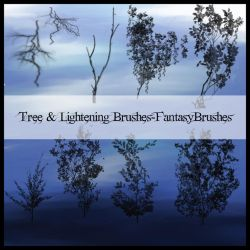 Tree and Lightening Brushes by FantasyBrushes