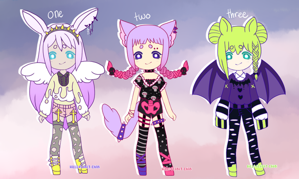 { spooky pastel goth batch } { closed} by hello-planet-chan