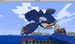Minecraft Kyogre by Railguns