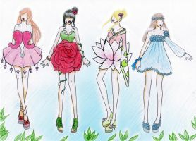 Garden of dresses by fatpear