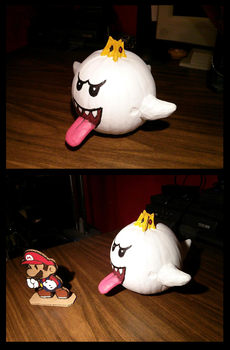 King Boo pumpkin by Makeshitoholic