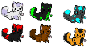 Adoptables :D -closed- by wolfpaw-z