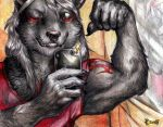 Commission - Muscle selfie 1 by FuriarossaAndMimma