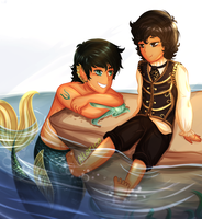 Percico: Mermaid AU by allarica