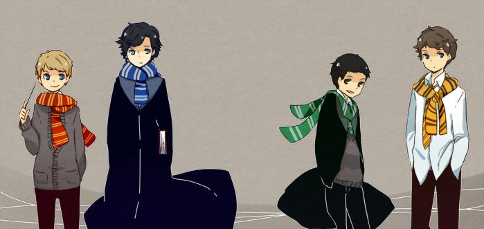 Sherlock in Hogwarts by patatomato