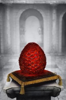 The Dragon's EGG - Game of Thrones book Cover by jamga