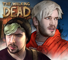 PewDiePie and JackSepticEye Telltale TWD crossover by Shuploc