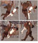 Mixed wrestling match 96 by cattle6