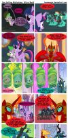 Sun Setting Misfortune MLP Comic: We're Back! by teammagix