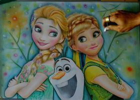 Frozen Fever color pencil by Thesadsteven