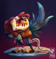 Rooster aviator by MichelVerdu
