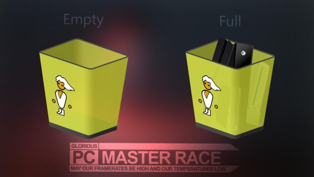 PC Master Race - Recycle Bin Icon by BlueCakeCZ