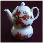 Flowering qince teapot by Xantosia