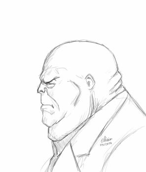 kingpin - Wilson Fisk - quicksketch by eliaim