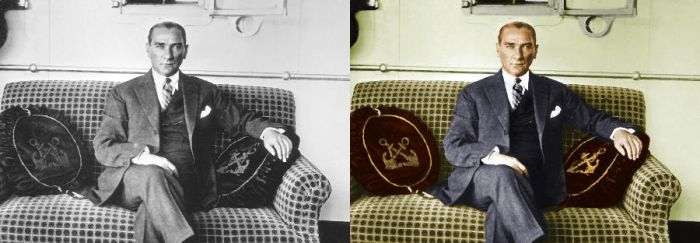 M.K.Ataturk Colorization by cmgllp