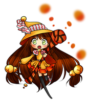 Kyoko the candy-witch by electrorobo