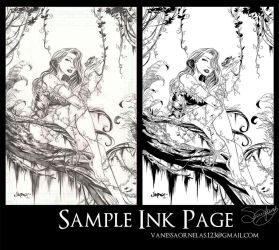 Poison Ivy Sample Ink Page by Sereglaure