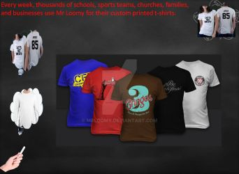 Custom T-Shirts and T-Shirt Printing by mrloomy