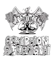 Gryphon Strength T-Shirt Design by MikeLancetteArt