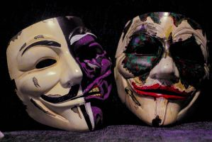 Two face and joker goon, V mask parody. by themillenniumarmoury