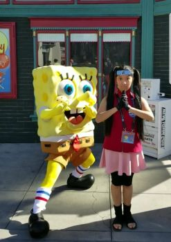Spongebob and I did karate poses photo 1 by Magic-Kristina-KW