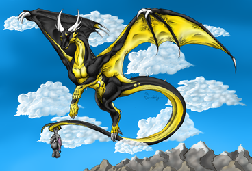 Roaming the skies. .:Comission:. by demonashley