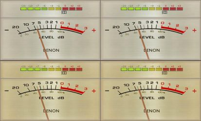 VU meters DENON V3 for foobar2000 by noel62