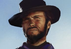 Clint Eastwood study by AlcoholicHamster