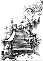 SIMFEROPOL: THE LOVE STAIRS (EN-PLEIN-AIR SKETCH) by Badusev