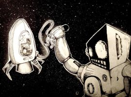 robot in space by NicoLisa