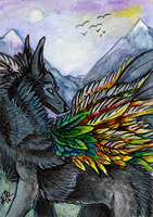 ACEO: Journey home by Eleweth