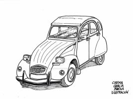 Citroen 2CV by ChemaIllustration