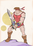 DAVE THE BARBARIAN by paintmarvels