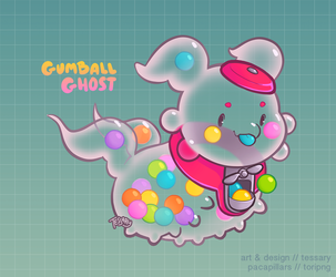 Gumball Ghost by tessary