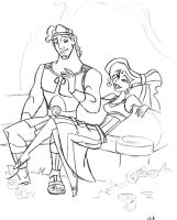 Herc and Meg by landesfes