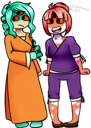 anxious child and happy child by DayDreaming-Misfit